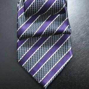 *NEW* Ermenegildo Zegna Purple & White Tie